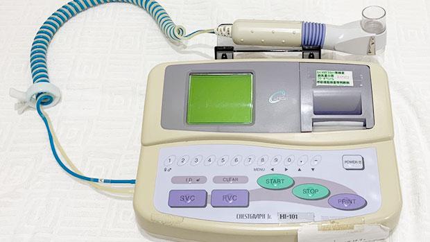 スパイロメトリー(呼吸機能検査)